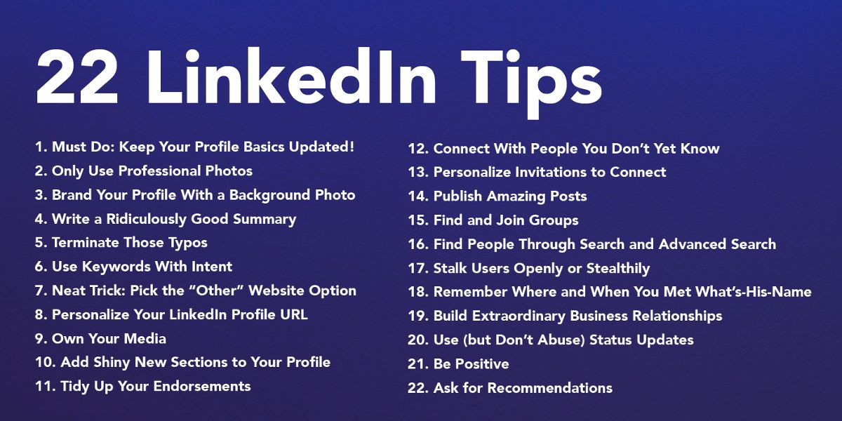 22 Easy Ways You Can Improve Your LinkedIn Profile – ThinkGrowth.org
