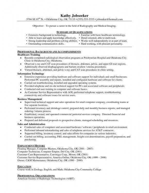 Resume Example Radiologic Technologist. Resume. Ixiplay Free ...