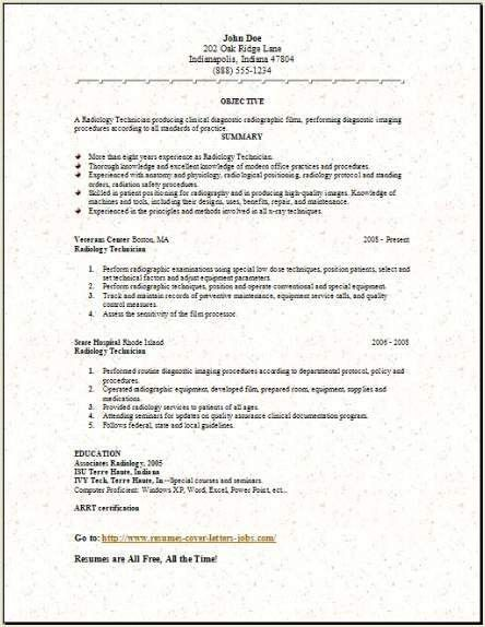 Medical Lab Radiology Resume, Occupational:examples,samples Free ...
