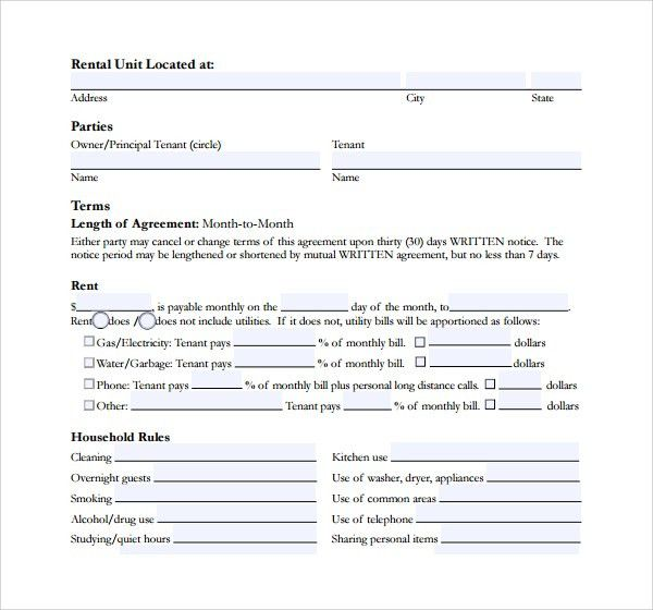 Short Term Rental Contract Form - 11+ Download Free Documents in PDF