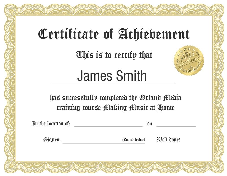 Computer course completion certificate format word certificate how to make music at home using a computer course contents yadclub Gallery