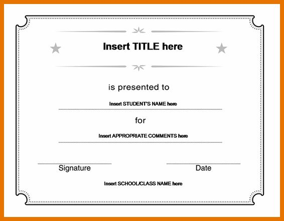 7+ microsoft office certificate template | Itinerary Template Sample