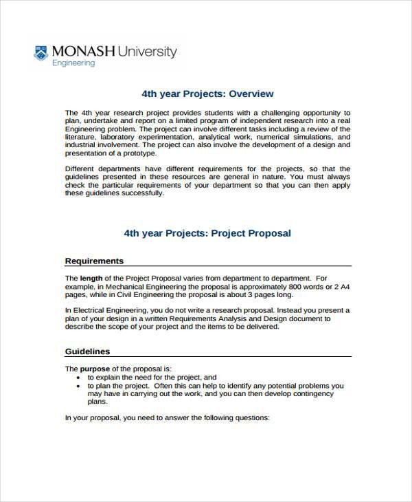 7+ Engineering Project Proposal Templates - Word, PDF | Free ...