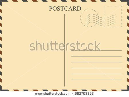 Postcard Template Stock Images, Royalty-Free Images & Vectors ...