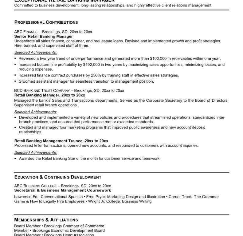 Download Banking Resume Examples | haadyaooverbayresort.com