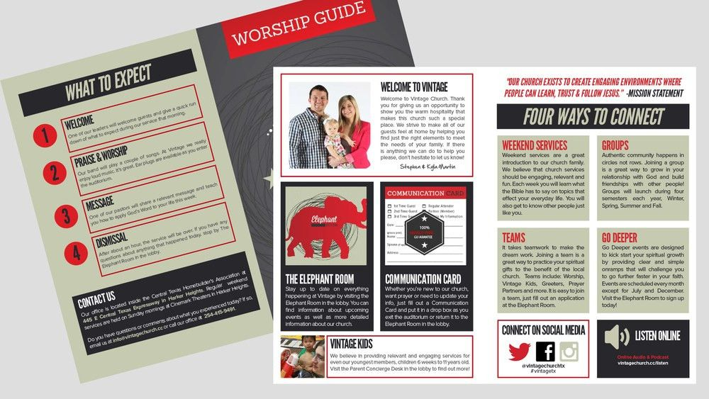 Bulletin/Worship Guide Template (Adobe InDesign Template) — One ...