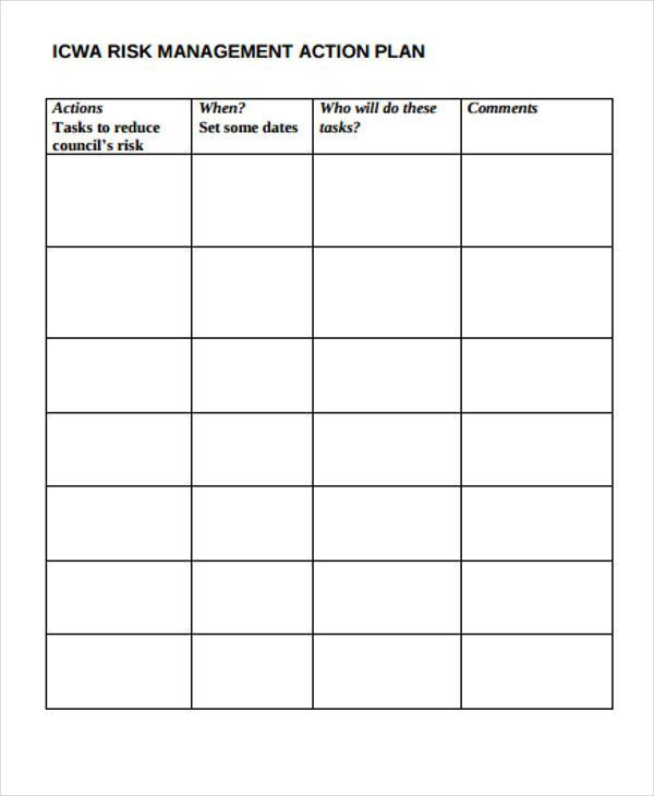 10 Risk Action Plan Templates - Free Sample, Example Format ...