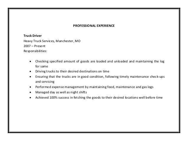 change of career resume maker httpwwwresumecareerinfo. truck ...