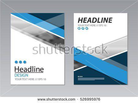 Annual Report Template Design Book Cover Stock Vector 526995976 ...