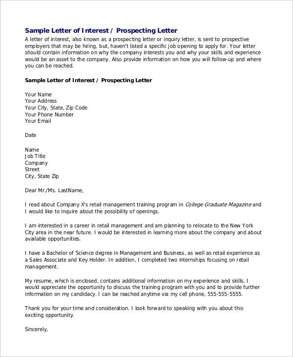 Format Of Letter Of Inquiry Letter Of Inquiry Sales Inquiry – Sample of Letter of Inquiry in Business