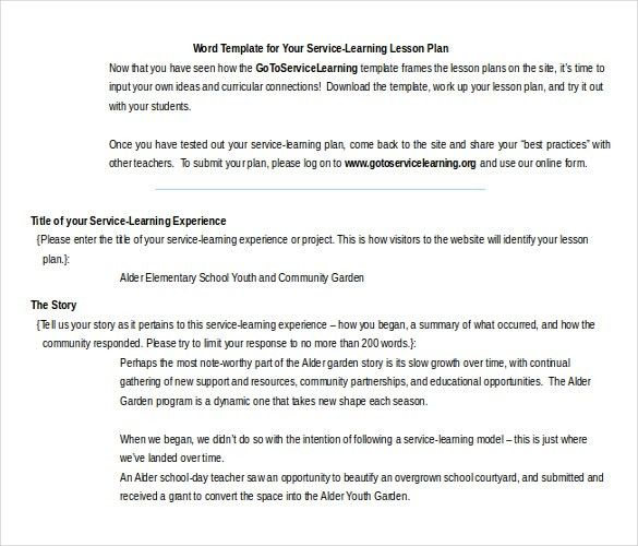 11+ Microsoft Word Lesson Plan Templates | Free & Premium Templates