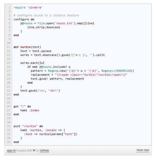 Interesting: code of the same application in PHP, Python, Ruby ...