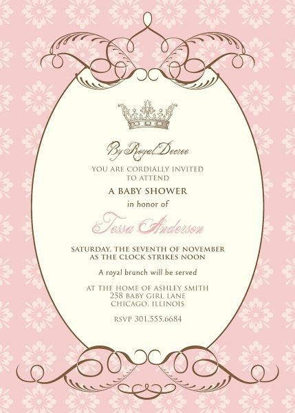 Free Printable Princess Baby Shower Invitations | christmanista.com