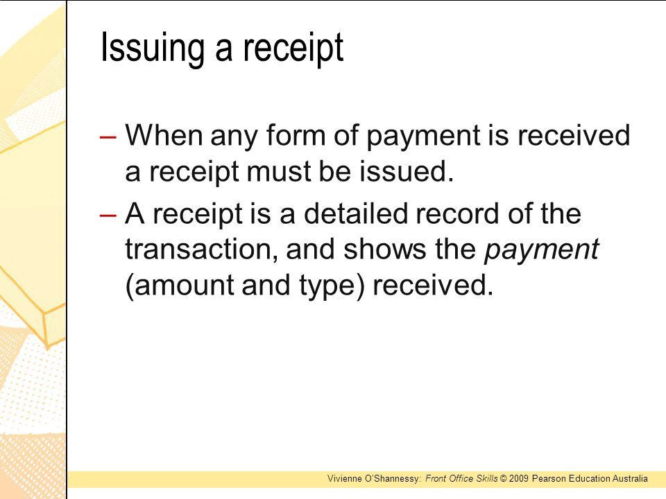 Payment Received Form | Jobs.billybullock.us