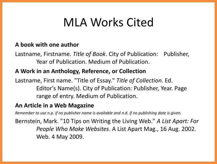 mla format work cited   sample bio letter