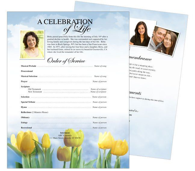 Funeral Stationary Templates: Inspire One Page Funeral Flyer ...