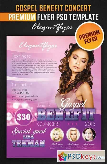 Gospel Benefit Concert – Flyer PSD Template + Facebook » Free ...