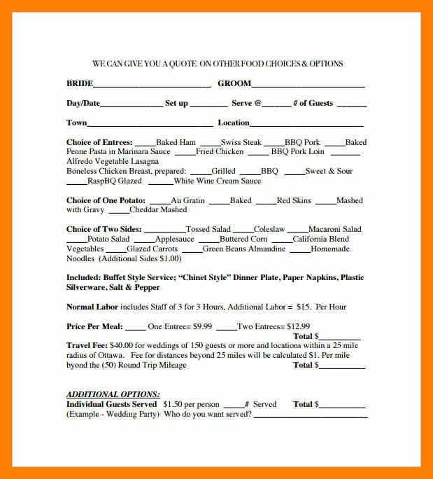 catering contract template. sample catering services contract form ...