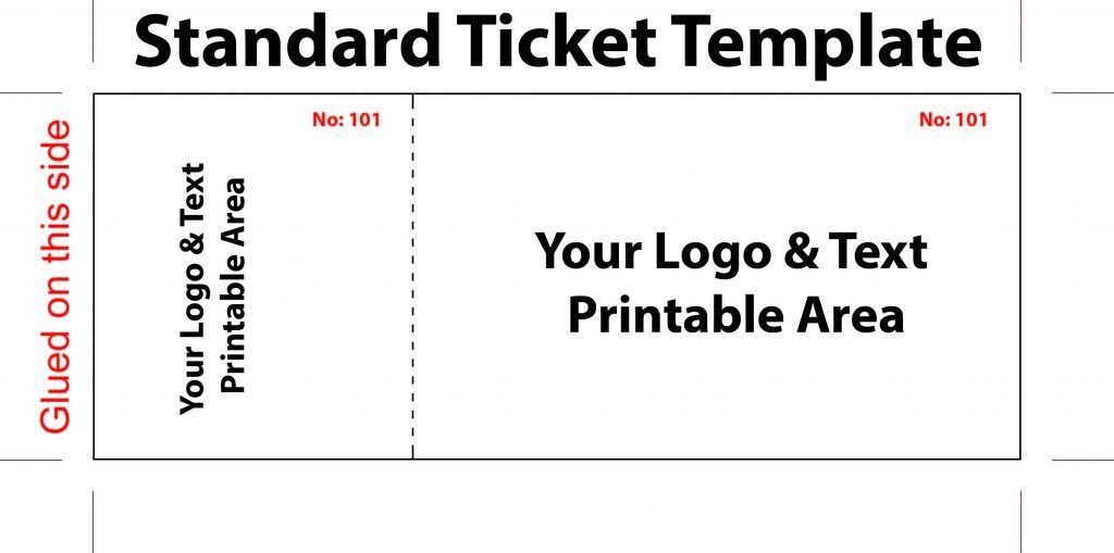 Tickets printingPrint Event Ticket UK fundraising ticket template ...