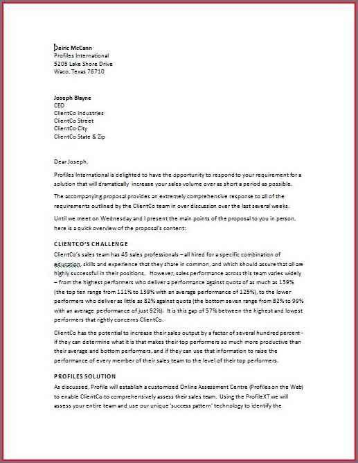 Proposal Letter Examples. Ways To Ace Your Internship Cover Letter ...