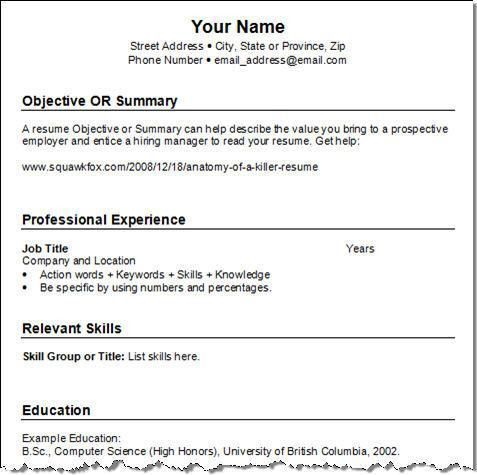 Download How To Write A Basic Resume | haadyaooverbayresort.com