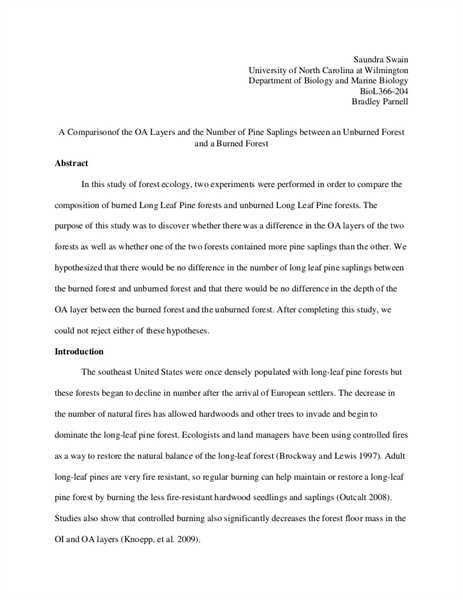 Sample Lab Report. Sample Lab Report Fc How To Write A Physics Lab ...