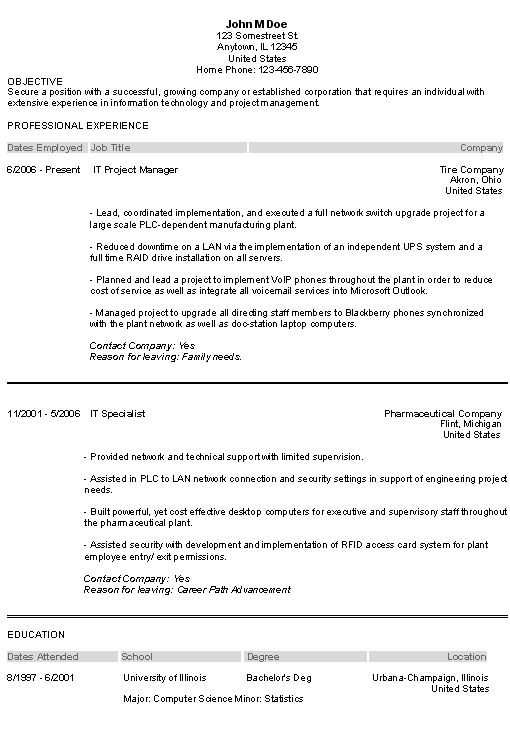 Tips For Writing A Winning Information Technology Resume | Career ...
