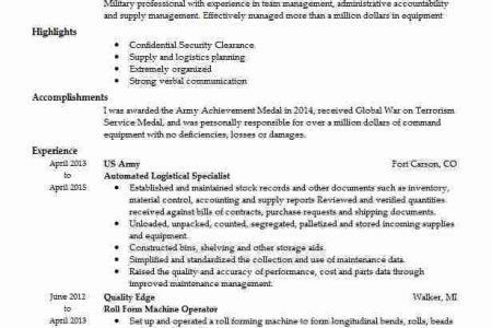 Army Resume Builder Answer - Reentrycorps