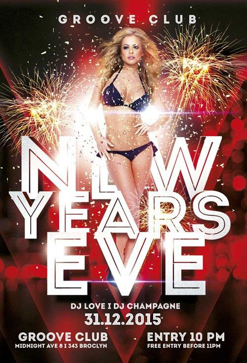 New Years Eve Party Vol 2 Free Flyer Template - Download for Photoshop