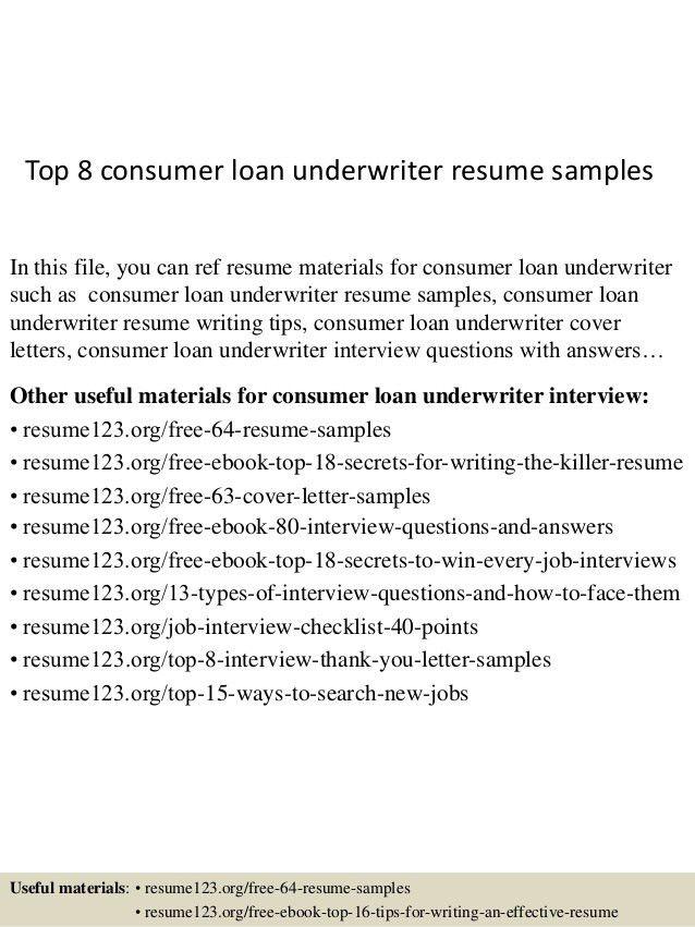 Download Underwriter Resume Sample | haadyaooverbayresort.com