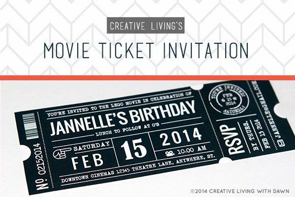 movie ticket wedding invitations - thebridgesummit.co