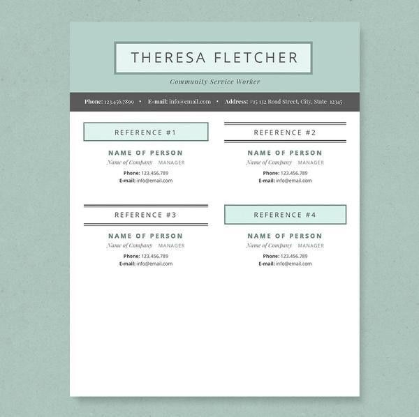 Chic Resume, Cover Letter & References Template Package – Janna Hagan