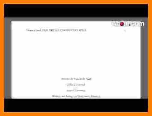 6+ apa title page example 2017   sephora resume