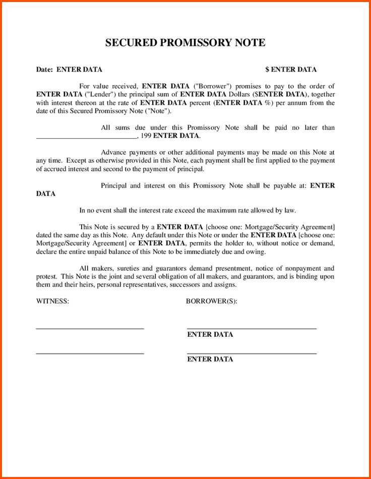 12+ secured promissory note | Survey Template Words