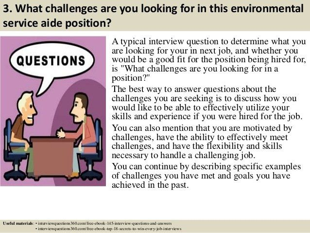 Top 10 environmental service aide interview questions and answers