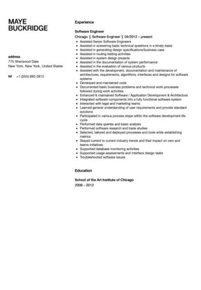 Software Engineer Resume Sample | Velvet Jobs