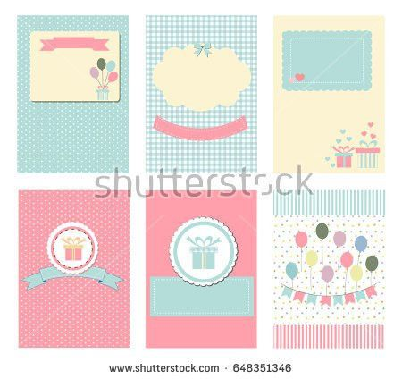 Template Notebook Paper Diary Scrapbook Planner Stock Vector ...