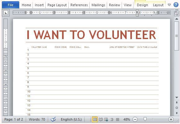 presentation sign up sheet template volunteer sign up sheet ...