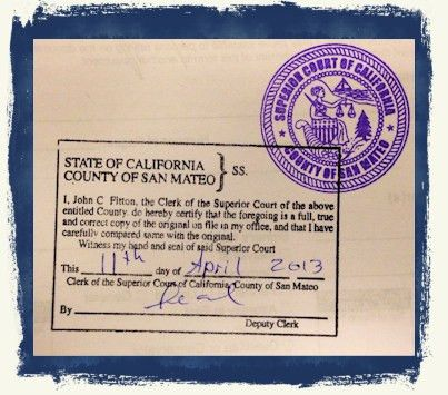 Divorce Decree Apostille — California Apostille