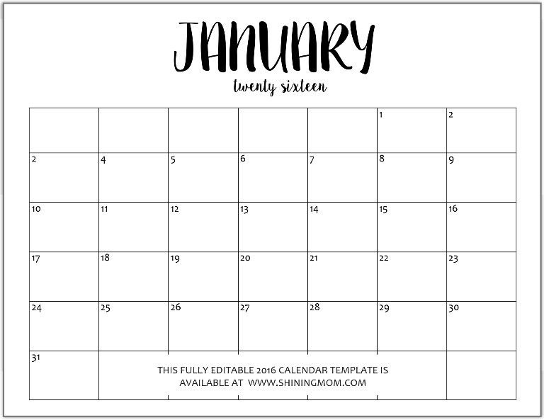 January 2017 Calendar To Print | Office | Pinterest | January calendar