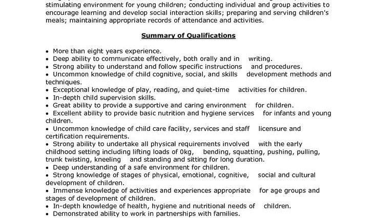 Child Care Resume. Child Daycare Assistant Cover Letter Megan ...