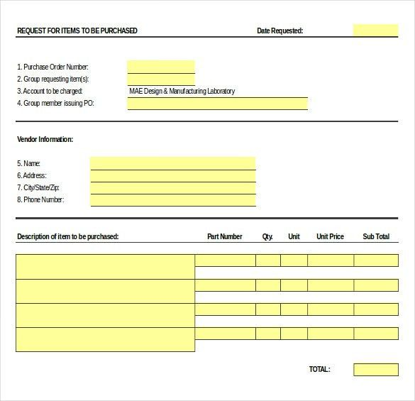 Purchase Order Templates - Free PDF, Word, Excel Format | Creative ...