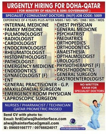 Job - Consultant Doctors - Qatar - Healthcare & Medical ...