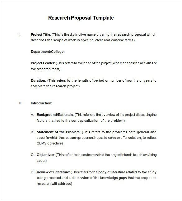 Proposal Template – 140+ Free Word, PDF, Format Download! | Free ...