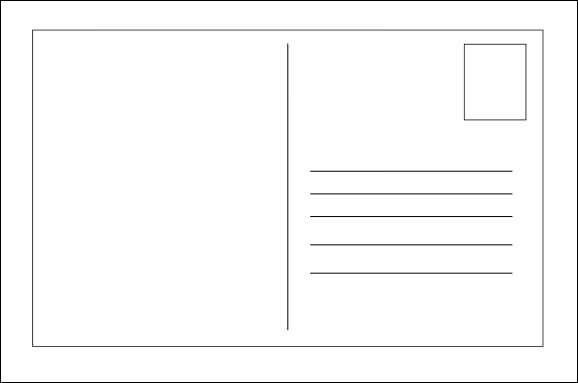 10 Best Images of Blank Postcard Template For Word - Blank ...