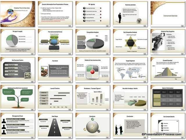 Creative Plan PowerPoint Template Set