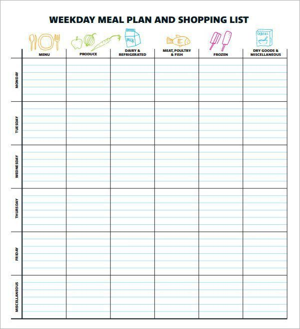 The 25+ best Meal planning templates ideas on Pinterest | Menu ...