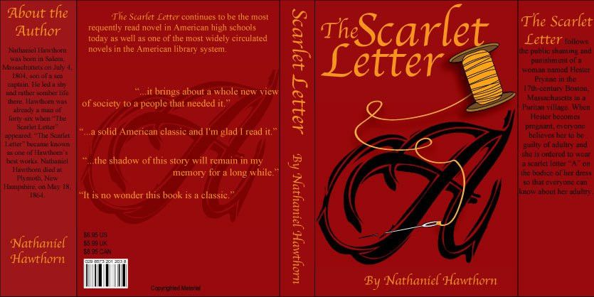 you. scarlet letter book cover by kccreations. the scarlet letter ...