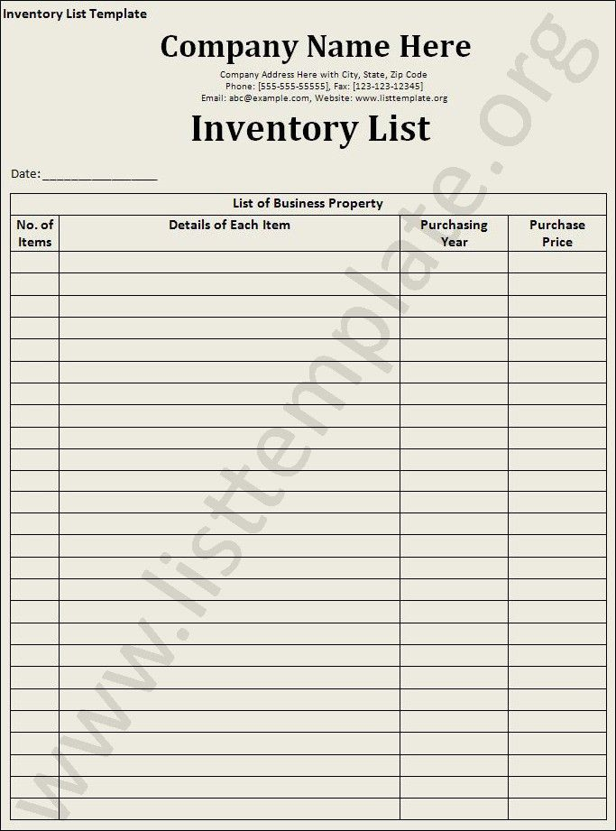 Kitchen Inventory Sheets | ... formulas, no hidden worksheets, no ...
