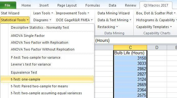 One Sample t test | t test Excel | t test Calculator| 1 sample t test